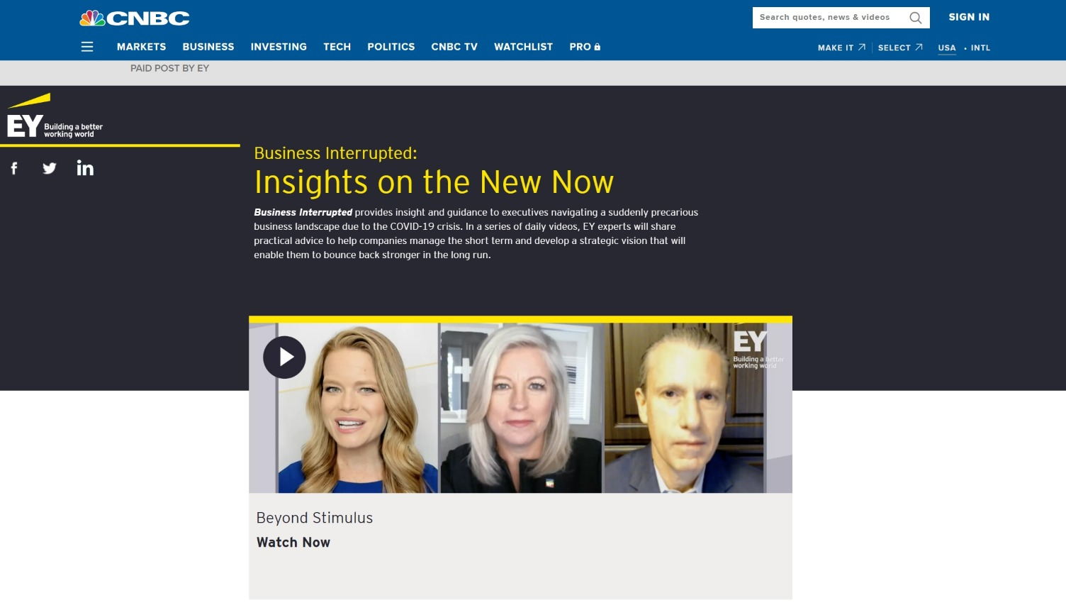 CNBC and EY Business Interrupted
