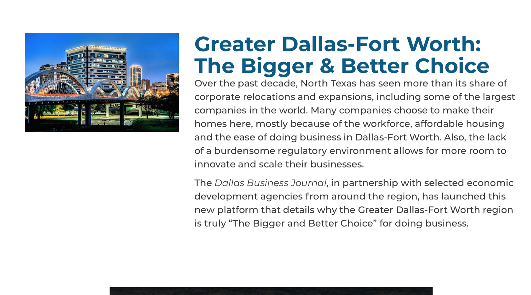 Dallas and Business Journals