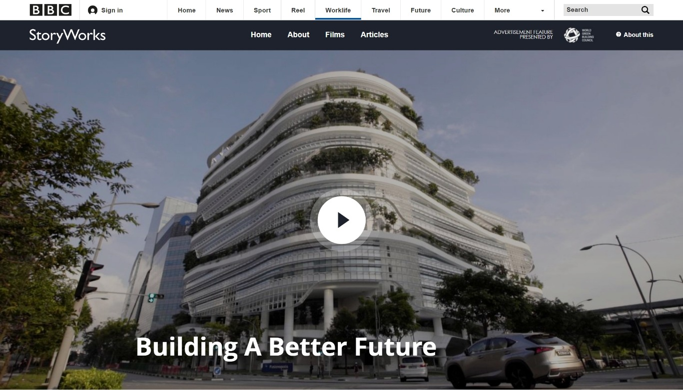 BBBC Storyworks and World Green Future Building Council Building a better future
