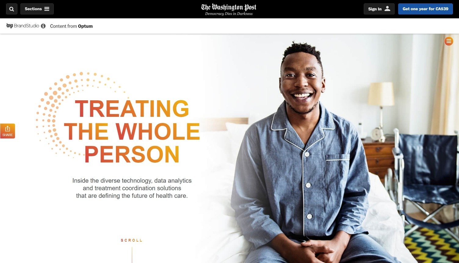 The Washnigton Post and Optum - Treating the whole person