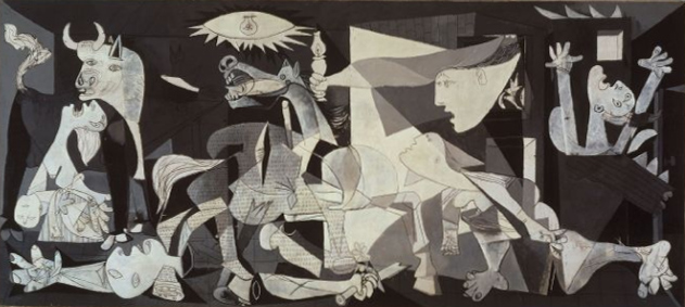Finished in 1937, Picasso's Guernica is thought to be one of the most powerful anti-war paintings in history. The piece was created in response to the bombing of Guernica by German and Italian warplanes.