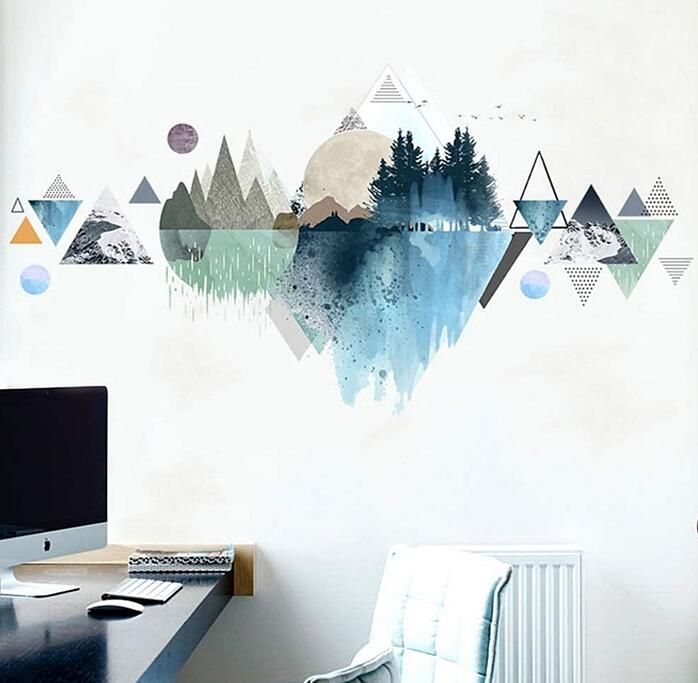 Mountains and Forest decal in office